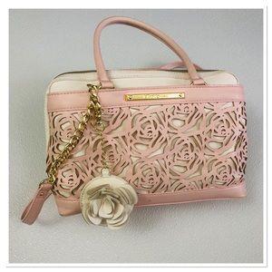 Betsey Johnson Bee Charm Laser cur Satchel Handbag